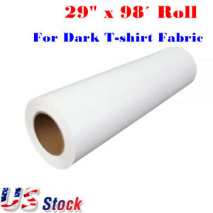 29 X 98 Roll White Color Eco solvent Printable Heat Transfer Vinyl For Dark