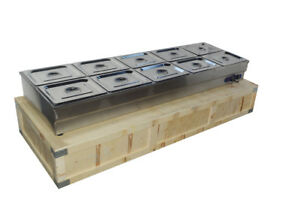 10 pan Hot Well Steam Table Food Warmer Restaurant Stainless Steel 110v 2000wq