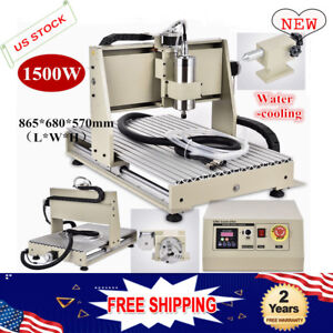 Usb 1 5kw 4 Axis Cnc 6040 Router Engraving Machine Drill Mill 3d Cutter Desktop