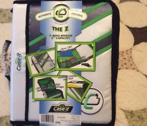 Case it Z binder Two in one 1 5 inch D ring Zipper Binders Green Z 176 rs