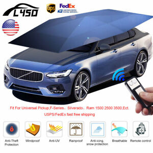 Universal Car Automatic Umbrella Tent Cover Remote Operated Sun Shade Waterproof