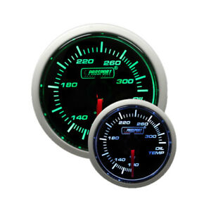 Prosport 52mm Oil Temperature Gauge W Sender Green White