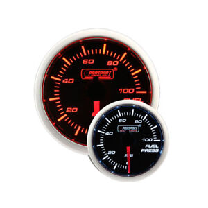 Prosport 52mm Electric Fuel Pressure Gauge W Sender Amber White