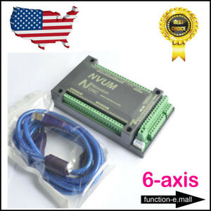 Us Mach3 6 Axis Breakout Board Cnc Usb Motion Control Card 2mhz Upgrade New