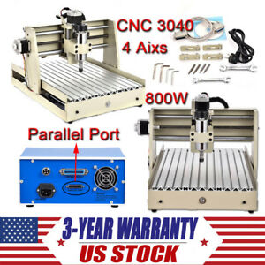 3040 Cnc Router 4 Axis Engraver Engraving Machine Kit Desktop 400w Spindle Motor