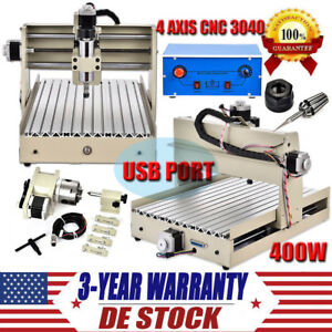 4 Axis Cnc 3040 Router Engraver Kit 400w Usb 3d Wood Carving Engraving Machine