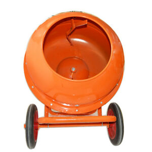 Concrete Mixer Portable Movable 110v Drum Type Mortar New