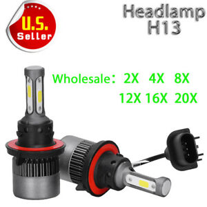 Wholesale 2 4 8 12 16 20 H13 9008 200w 20000lm Led Headlight High Low Beam Bulbs