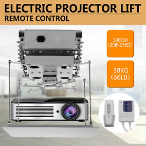 39in Projector Bracket Motorized Electric Lift Projector Remote Control