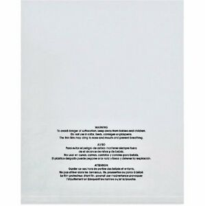 1 4 000 12x15 Suffocation Warning Self Sealing Resealable Clear Poly Bags