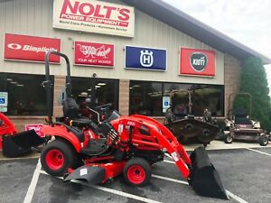 2015 Kioti Cs2410 Compact Tractor Loader 60 Mower 154 Hours 4wd 3 Point Hitch