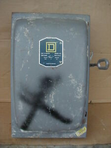 Square D 200 Amp 240 Volt Safety Switch Disconnect Fused D 96354