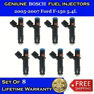 Oem Bosch 4hole Upgrade 8x Fuel Injectors For 05 07 Ford F150 5 4l V8