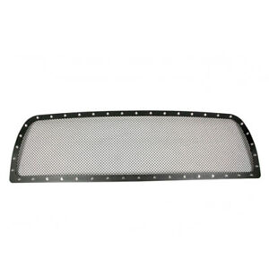 2010 2012 Dodge Ram 2500 3500 Pickup Upper Black Rivet Mesh Grille Grill Insert