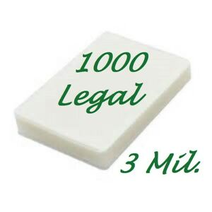 1000 Legal Laminating Laminator Pouches Sheets 9 X 14 1 2 3 Mil Scotch Quality
