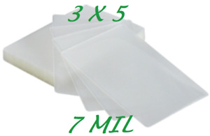 3 X 5 Laminating Laminator Pouches Sheets 3 1 2 X 5 1 2 500 7 Mil Quality