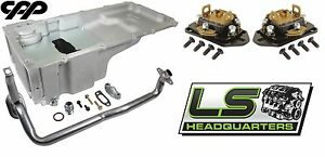 Holley 302 2 Ls Engine Swap Oil Pan Conversion Kit With Cpp Fitrite Motor Mounts
