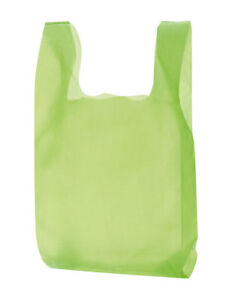 Lime Green Plastic T shirt Bags Case Of 1 000