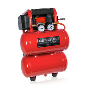 General International Ac1212 1 3 Hp 2 Gal Twin Stack Air Compressor New