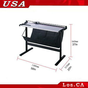 Brand New 51in Rotary Paper Trimmer Cutter With Support Stand Large Format