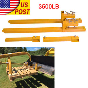 Pair Of 43 Clamp On Pallet Forks 3500 Lb Capacity Loader Bucket Tractor