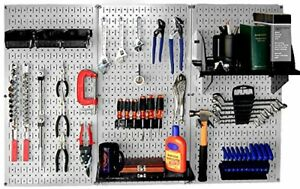 Wall Control 30 wrk 400gb Standard Workbench Metal Pegboard Tool gray black
