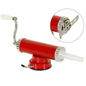 Sausage Stuffer Cookie Press Mold Hand Operated Meat Filling Homemade Machine