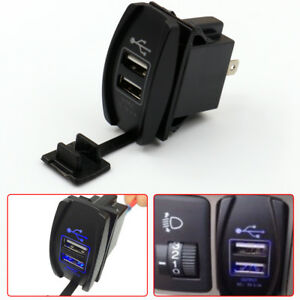 12 24v 3 1a Dual Led Usb Car Auto Power Supply Charger Port Socket Waterproof