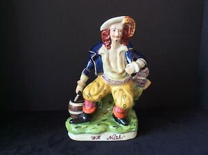 Will Watch Staffordshire Style Male Figurine Statute Sculpture Pirate