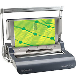New Fellowes Quasar 130 Double Loop Wire Binding Machine Free Shipping