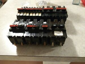 Federal Pacific Breakers Lot 20 30 Amp