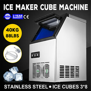 Ice Cube Making Machine 3 8 Cubes Commercial 90lb 24h Ice Cube Maker