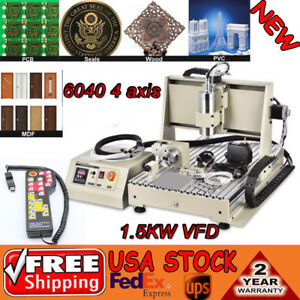 4 Axis 6040 Cnc Router Engraver Engraving Mill Drill Machine 1500w Controller