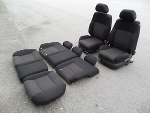 Vw Jetta Mk4 Wolfsburg Sport Cloth Seats Set High Bolster Heated 99 05 01 02 03