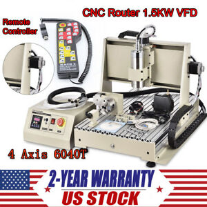 Cnc6040 4 Axis Router Engraver Engraving Milling Drilling Machine Controller