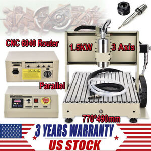 Diy 3 Axis Cnc Router 3d Engraver Carving Machine For Pcb Pvc Milling Wood 1500w