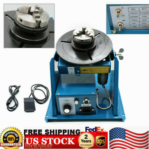 Mini 2 5 3 Jaw Lathe Chuck Rotary Welding Positioner Turntable 110v By 10 Usa
