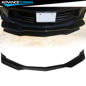 Fits 16 18 Chevy Camaro Zl1 Style Front Bumper Lip Spoiler Pp Gloss Black