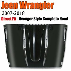 07 18 Jeep Jk Wrangler Metal Avenger Style Dome Engine Sport Hood Vent Scope