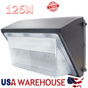 Led Wall Pack With Dusk to dawn Photocell 100w 125w Outdoor Commercial Lighting