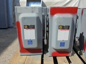 Square D D323n Series F 100 Amp 3 240 Volt Fused Disconnect Painted Red