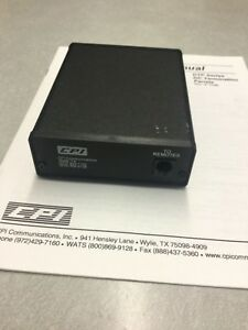 Cpi Communications Dc Remote Termination Panel Ham And Service Manual Dtp Series