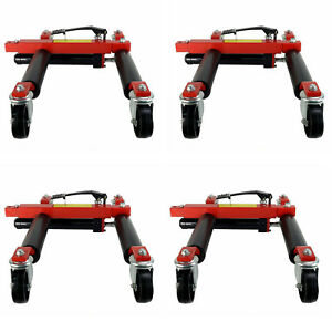 Hydraulic Jack Portable Tire Lift Car Move Positioning One Set Moving Machine