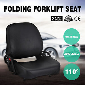 New Universal Folding Forklift Seat Fits Cat Fits Nissan Strong Packing Popular