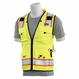 Surveyor Vest deluxe lime 4x Erb Safety 62390