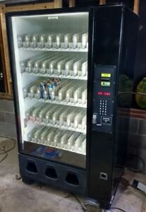 Dixie Narco Dn 2145 Beverage Vending Machine W Coin And Bill Acceptor