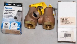 2 Watts 374a 030 Hydronic Hot Water Boiler Relief Valve 3 4