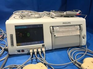 Philips Avalon Fm50 Fetal Monitor Ref 895071 With Cables