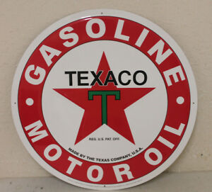 Large Vintage Style 24 Texaco Oil Gas Station Signs Man Cave Garage Decor