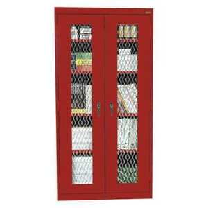 Expanded Metal Cabinet 36x18x72 In red Sandusky Ca4m361872 01